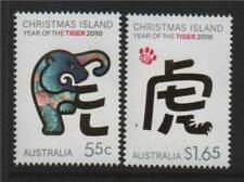 Christmas Is.2010 Year of the Tiger 2v NEW ISSUE MNH
