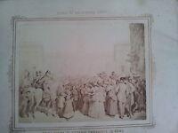 ANTICA FOTOGRAFIA PRIMA VISITA DI VITTORIO EMANUELE IN ROMA AL CAMPIDOGLIO 1870