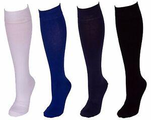 Men Cotton Rich Plain Color Long Knee High Socks One Size 6 - 11