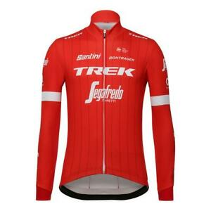 Trek Segafredo 2018 Long Sleeve Cycling Jersey in Red by Santini