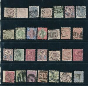 D125849 Great Britain QV Nice selection of VFU Used stamps