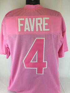 Brett Favre Unsigned Custom Sewn Pink Football Jersey Sz S,M,L,XL,2XL Charity
