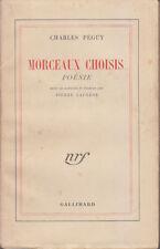 C1 Charles PEGUY Morceaux Choisis - POESIES NRF 1943