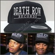 7bf9038689c NEW Death Row Records Black Snapback Cap Hat NWA Dr Dre 2Pac Snoop Dogg  Compton