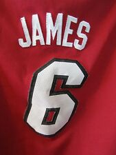 LeBron James 6 Miami Heat NBA Basketball Jersey Youth Sz L Adidas