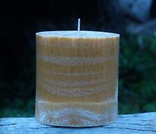90hr DRY TOBACCO & HAY Triple Scented Natural OVAL PILLAR CANDLE Earthy Gifts