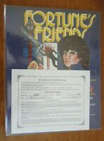 Fortune's Friends signed by colleen dora #1 9.4 NM (1987)