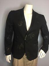 Daniele Alessandrini Black Numbers Jacket Blazer G2352N6733501 Sz US 40 EU 50
