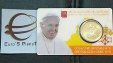 coin card 8 50 cent euro Vaticano 2017 Vatican Vatikan Francesco nuova effige