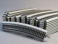 "BACHMANN E-Z TRACK HO 22"" RADIUS CURVE SECTION train gray CASE 44583 (50) NEW"