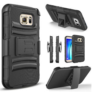 For Samsung Galaxy S7 / S7 Edge / Phone Case, Belt Clip+Tempered Glass Protector