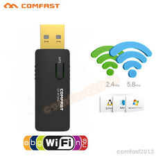 600Mbps WLAN WiFi Bidirektional USB Adapter Dual Band 2,4GHz/5GHz Stick 802.11ac