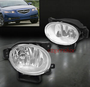 FOR 07-08 ACURA TL BUMPER DRIVING FOG LIGHTS LAMPS CHROME CLEAR W/BULB NEW SET