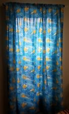 "Harry Potter Blue Window Curtain Panel Quidditch Gold Snitch RARE HTF 60"" x 72"""