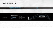 "BRAND NEW ALDILA 2KXV BLUE NV 70 S DRIVER SHAFT .335 46"" UNCUT STIFF"