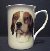 Beagle Dog Head B/F Fine Bone China Mug Cup Beaker