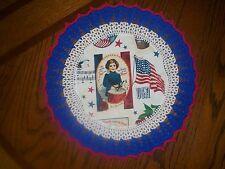 New Handmade Round Crochet Doily--Patriotic/Americana/Drummer Boy w/Flag