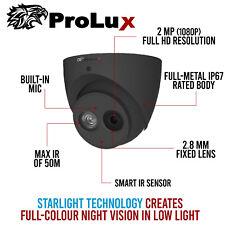 2Mp Cctv Prolux 1080P AoC Starlight Hd Cvi Eyeball 50m Ir Microphone 2.8mm Grey