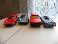 4 Voitures Miniatures Anciennes Norev dans l'état 1/43 2 Ligier/Chevron/Peugeot