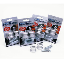 Oxford Motorcycle Paddock Stand Swing Arm Bobbins (Pair) - M10 (1.50) Silver (OF