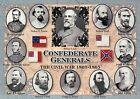 Confederate Generals, Robert E. Lee, Jackson, etc. - Military Civil War Postcard