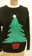 Stunning Light Me Up! Christmas Tree Designer Sweater-NWT and Batteries