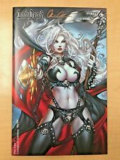 LADY DEATH Pin Ups #1 Conquest JEWEL Variant Cover by Paolo Pantalena Signed