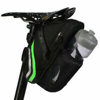 Bicycle Saddle Bag W/ Water Bottle Pocket Waterproof Bike Rear Tail Bag Cycling