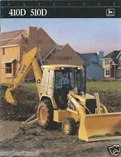 Equipment Brochure - John Deere - 410D 510D - Backhoe Loader - c1995 (E2498)