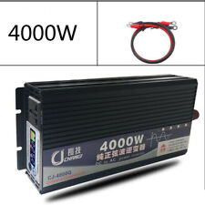 4000W Pure Sine Wave Power Inverter DC 24V to AC 110V / Battery Charger / LCD