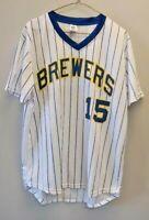 "MILWAUKEE BREWERS Baseball Jersey Shirt Mens XL MLB SGA 20/21"" Chest Pit to Pit"