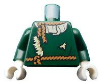 Lego Torso Arme in dunkelgrün Hände weiss Vogelscheuche 973pb3445c01 Neu