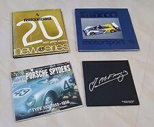 Blocco lotto stock di 4 volumi di auto storiche sportive Ferrari Porsche altre-
