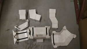 Terrain Guttering - White Corniche 120mm Fittings