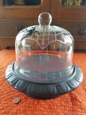 Hallmark Witch Ware Domed Cake Plate with Spider, Halloween