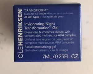 NEW Ole Henriksen Invigorating Night Transformation Gel 0.25 travel size