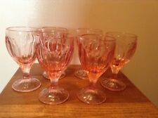 Beautiful signed Lenox pink Dawn Blossoms 6 pink goblets glasses 6 oz
