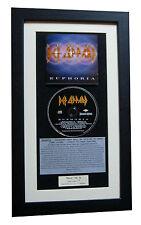 DEF LEPPARD Euphoria CLASSIC CD Album TOP QUALITY FRAMED+EXPRESS GLOBAL SHIPPING