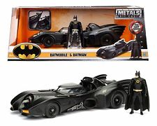 JADA METALS DC COMICS 1:24 1989 BATMOBILE & BATMAN FIGURE DIECAST CAR 98260