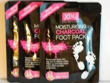 3 x PAIRS  MOISTURISING CHARCOAL FOOT PACKS