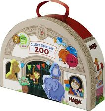HABA At the Zoo Large Portable Take Along Play Set with 19 Wooden Pieces (Mad...