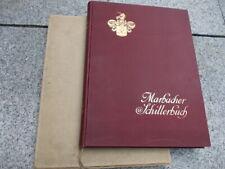 Marbacher Schillerbuch Hundertsten Wiederkehr Schillers Todestag 1905 Schiller