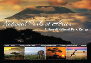 Sierra Leone 2015 - National Parks of Africa Stamp - Sheet of 4 MNH