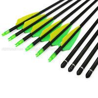 "6pcs 12pcs Hunting Archery 32"" Arrows SP400 Compound Recurve Bow W/ Screw Point"
