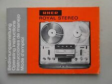 Uher Royal Stereo Bedienungsanleitung Tonbandgerät