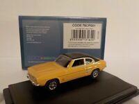 Model Car, Ford Capri - Maize Yellow, 1/76 New Oxford 76CP001