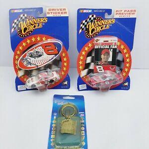 NEW Dale Earnhardt Jr. #8 Official Fan Pit Pass NASCAR, Driver sticker and key c