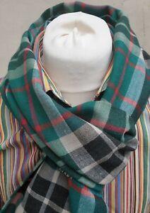 Begg Scotland Mens Fiji Scarf Mursi Weave Cashmere Silk Mix Green 70X200 RRP£130