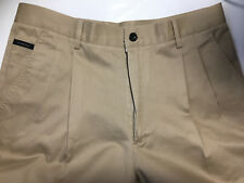 POLO RALPH LAUREN Mens Size 34 Golf Pants Andrew Pleated Front Chino Khaki Tan
