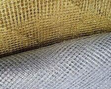 """LUREX NET FABRIC DANCE DRESS- SOFT, 60""""/150 cm! 1 CAT A+++ QUALITY-GOLD & SILVER"""